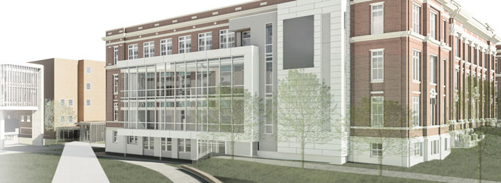 Rendering of new Pharmacy Building